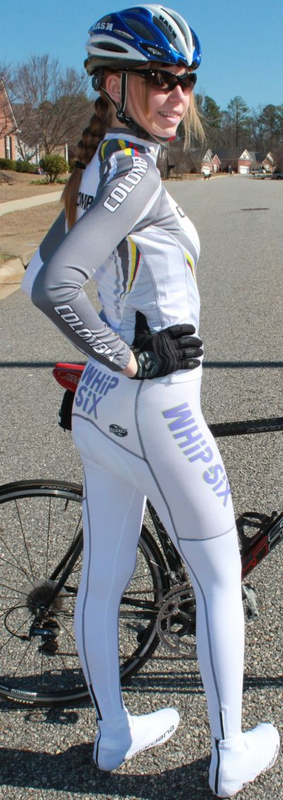 Road Cycling Tights Suarez Custom Whip Six White